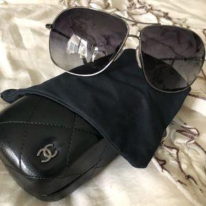 Chanel aviator style sunglasses